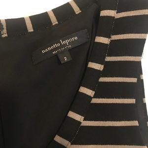Nanette Lepore Striped A line Dress Size 2